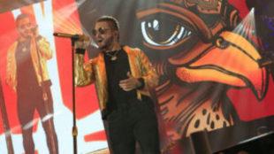 El cantante y compositor colombiano, Maluma, durante una actuación.