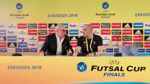 Javi Rodríguez, durante la rueda de prensa tras su semifinal.