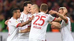 Los jugadores del Bayern, celebrando un gol.