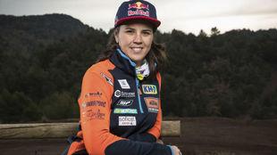 Laia Sanz, antes de una competición