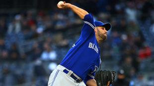 Estrada, en labor en la lomita ante Yankees.