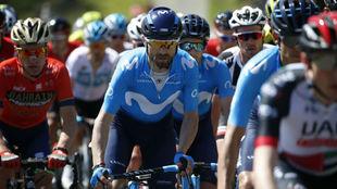 Alejandro Valverde, durante una carrera