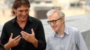 Javier Bardem con Woody Allen en el Festival de San Sebastián hace 10...