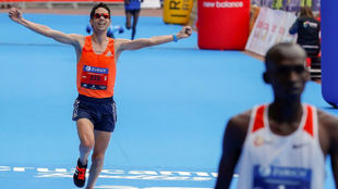 Javi Guerra, en el Maratón de Sevilla