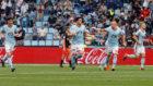 Maxi Gómez celebra su gol ante el Valencia.