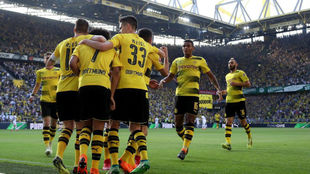 El BVB celebrando la victoria