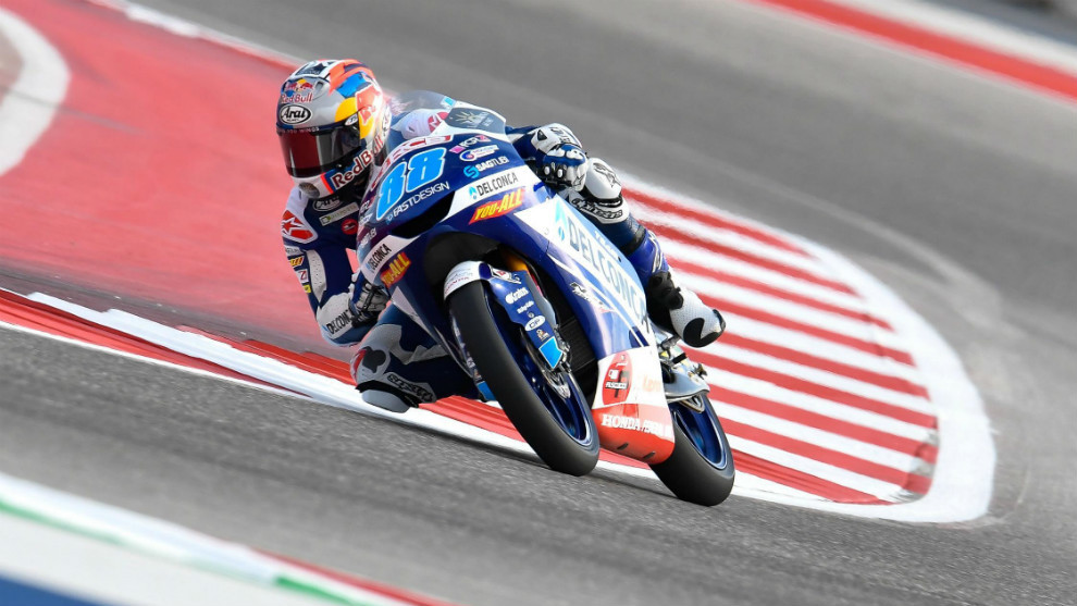 Jorge Martín, en el circuito de Austin