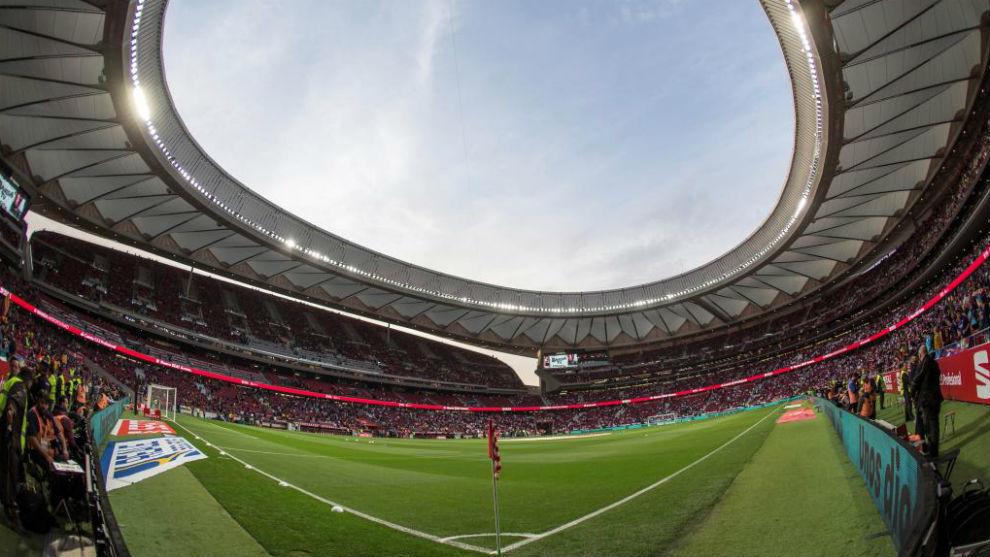 Panorámica del Wanda Metropolitano antes de la final de Copa.