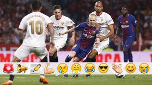 Andrés Iniesta protagonista de la victoria del Sevilla vs Barcelona...
