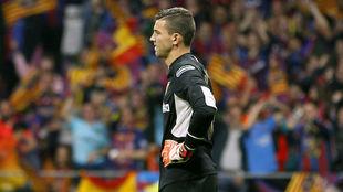 David Soria, durante el partido.
