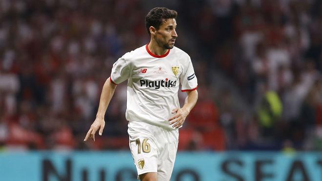Jesús Navas, durante el Sevilla-Barça de Copa.