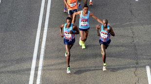 Cabeza de carrera del Maratón de Madrid