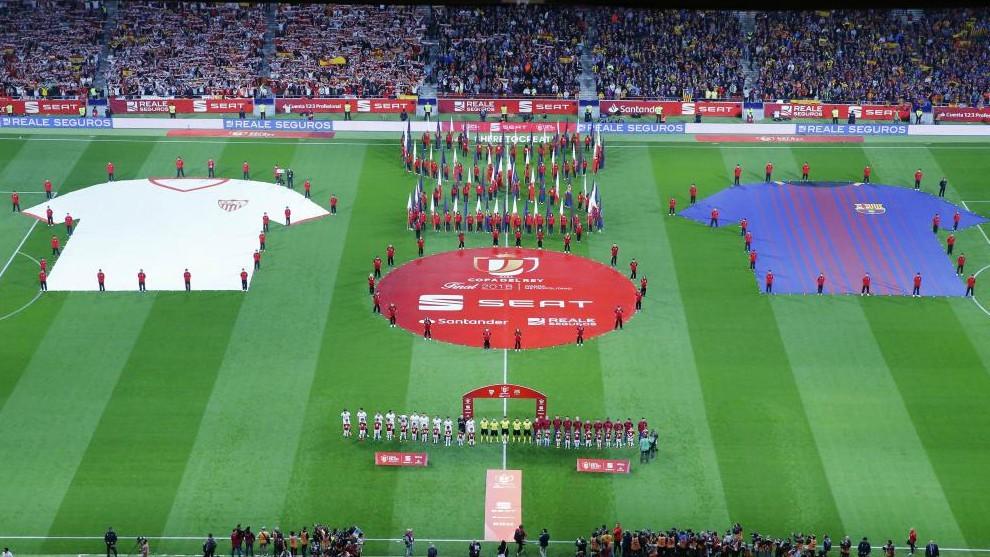 El Wanda Metropolitano en la final de la Copa del Rey