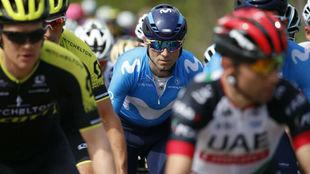Alejandro Valverde durante la Lieja-Bastoña-Lieja.