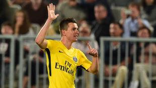 Lo Celso celebra su gol al Girondins.
