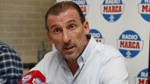 El director deportivo del Sevilla, Óscar Arias.