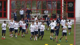 La plantilla del Bayern se ejercitó pensando en el Real Madrid