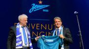Roberto Mancini, durante su presentación con el Zenit.