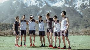 Los siete integrantes del Salomon Team