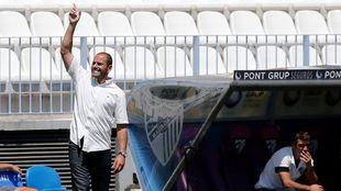 Salva Ballesta durante un partido con el filial del Málaga