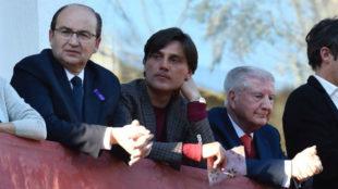 José Castro, Vincenzo Montella y Gabriel Ramos.
