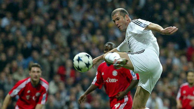 Zidane has an excellent record against Bayern