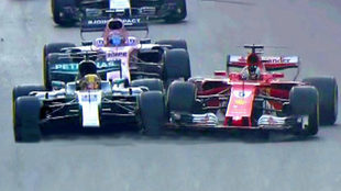 Vettel choca con Hamilton en Bakú.