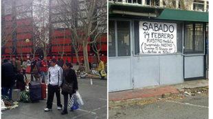 Imágenes del rastro junto a Mestalla.