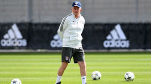 Heynckes, en el último entrenamiento del Bayern antes de medirse al...