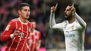 Bayern - Real Madrid - el duelo entre Isco y James Rodríguez