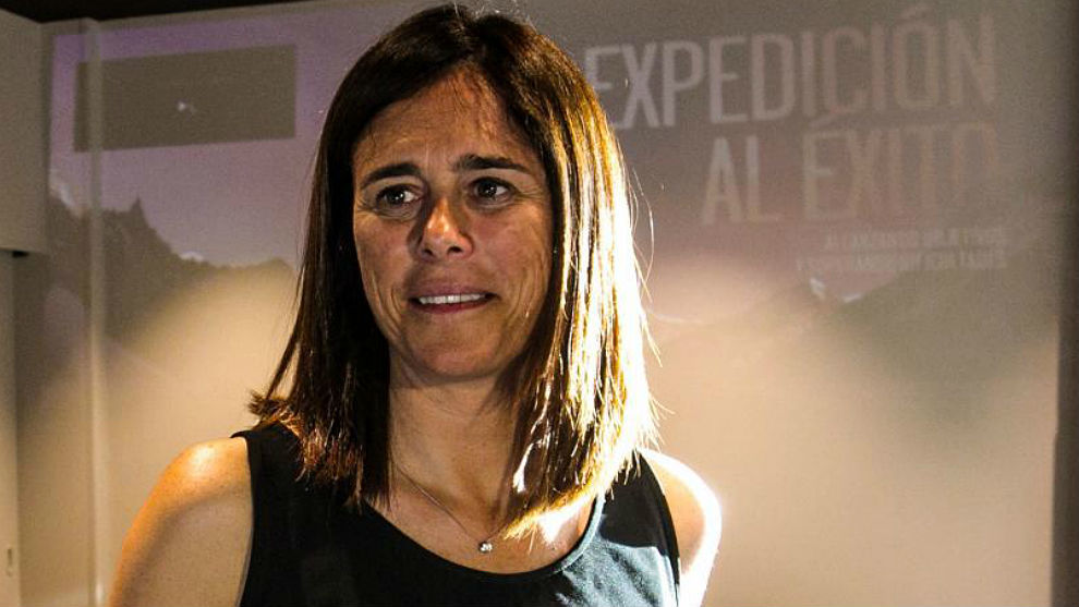 Edurne Pasaban, este martes en Ciudad Real.