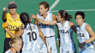La selección argentina absoluta en la final del mundial femenino de...