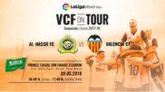 Creatividad del Valencia para anunciar el partido.