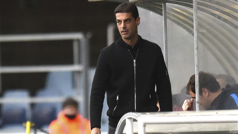Gerard López, durante un partido de esta temporada en el Mini Estadi
