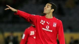 Aboutrika durante un partido con el Ahly Sporting
