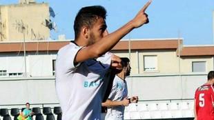 El jugador del AD Ceuta en una imagen tomada de Ceuta TV