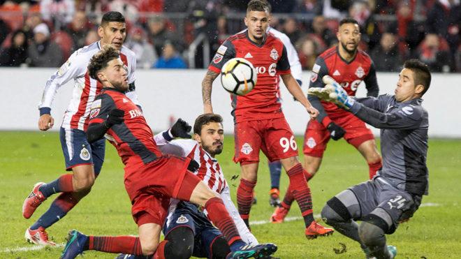 Imagen del partido de ida de la final de la Concachampions entre...
