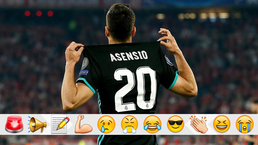 Asensio celebra su gol