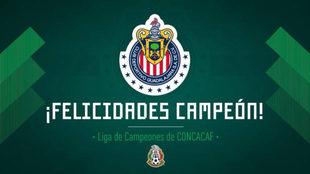 Chivas campeón de la Concachampions.