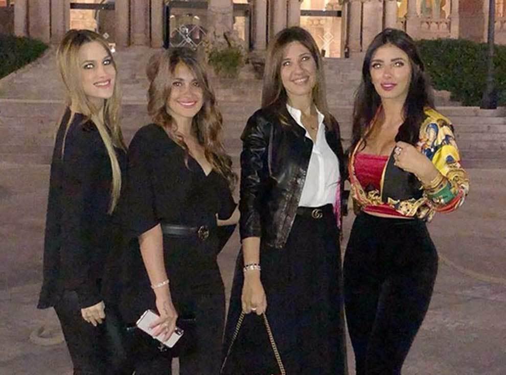 Antonella Roccuzzo, Núria Cunillera, Elena Galera y Daniella Semaan...