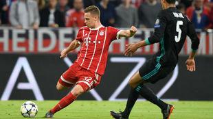 Kimmich en la acción del gol en el partido del Bayern de Múnich ante...