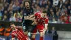 Süle en una acción del partido del Bayern ante el Real Madrid.