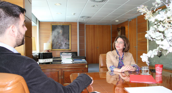 Inmaculada García durante la entrevista concedida a MARCA.