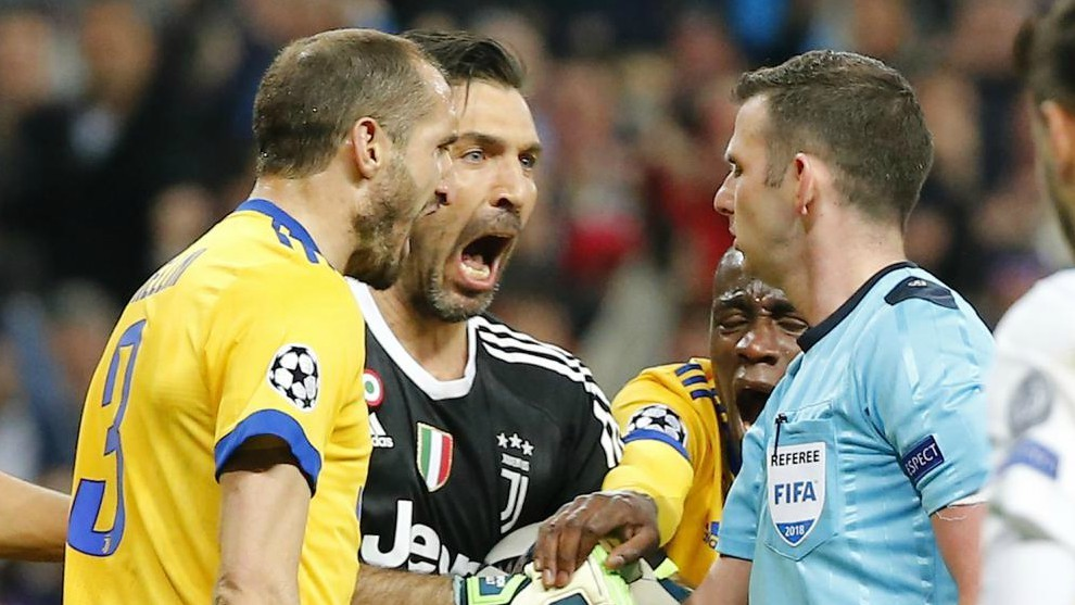 Oliver durante el Real Madrid-Juventus