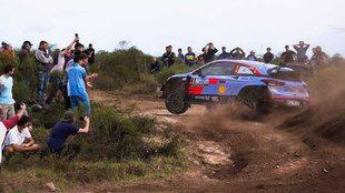 El belga, exprimiendo su Hyundai i20 Coupé WRC