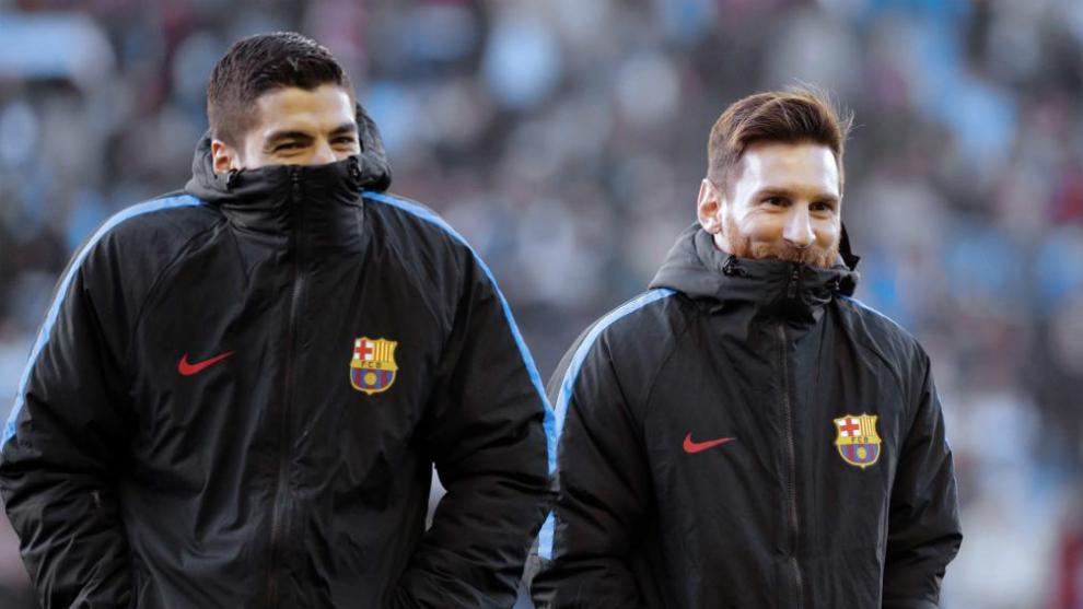 Messi y Suárez, inseparables.
