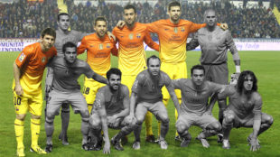Un once del Barcelona con 10 canteranos de la temporada 2012-13.