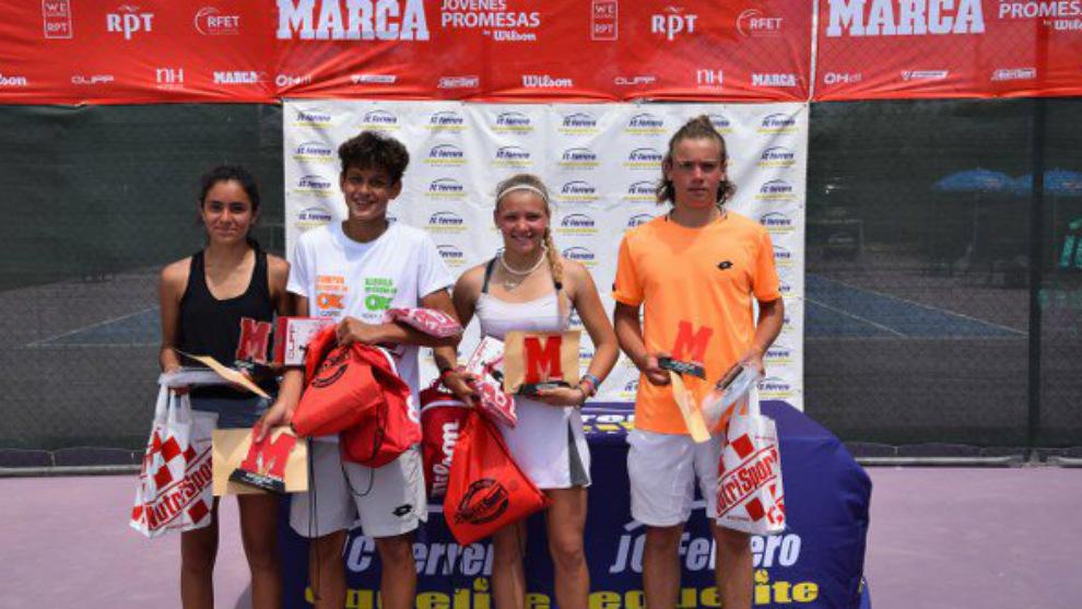 Campeones y finalistas de la quinta prueba del MARCA Jóvenes Promesas