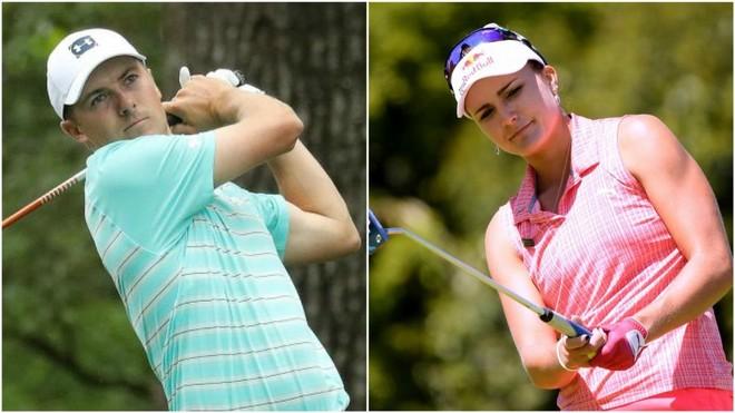 Jordan Spieth y Lexi Thompson.