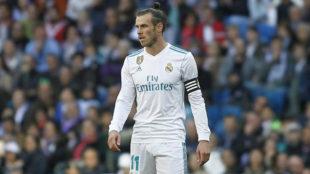 Bale, con el brazalete del Madrid.